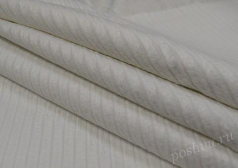 Ткань вельветовая в рубчик Белое солнце
