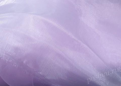 Ткань органза Сиреневого цвета