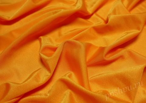 Ткань бифлекс Оранжевого цвета