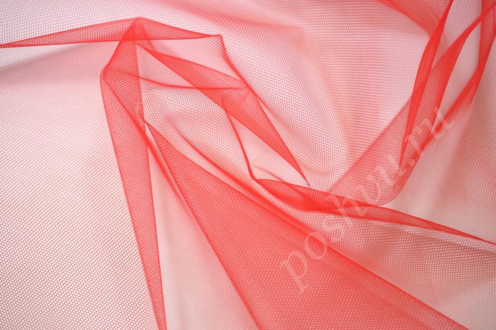 купить ткань сетка красного цвета