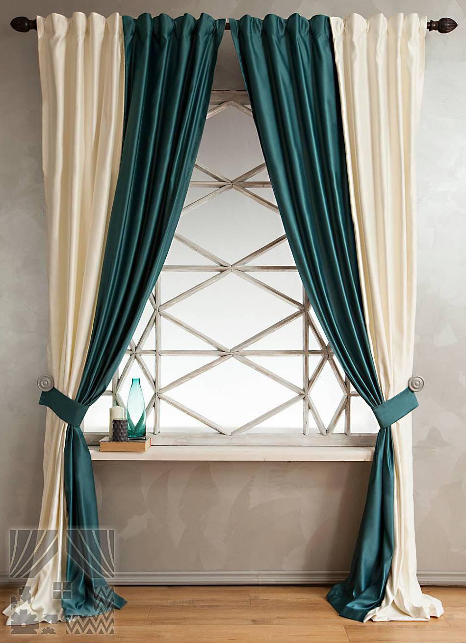 Двухцветные шторы