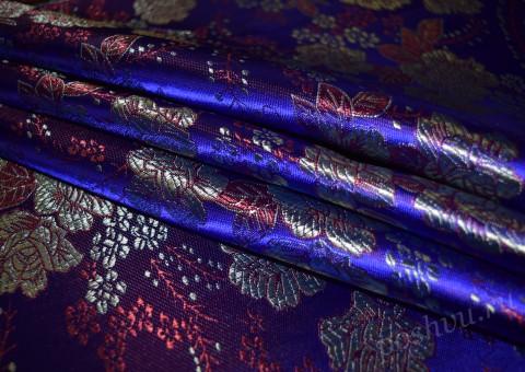 Шелковая ткань синего цвета