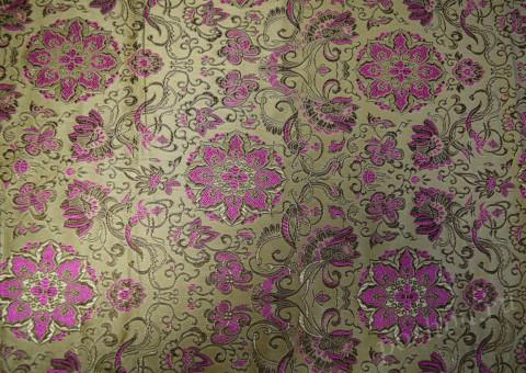 Ткань китайский шелк золотой Византийская вязка