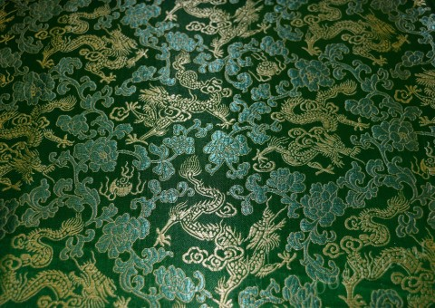 Шелковая ткань Китайские астры
