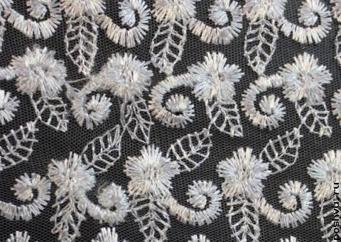 Ткань гипюр Белое великолепие