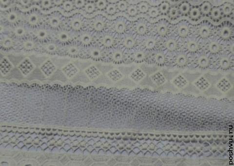 Ткань гипюр белый для окантовки Сто узоров