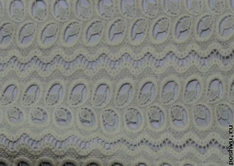Ткань гипюр белый Наряд невесты