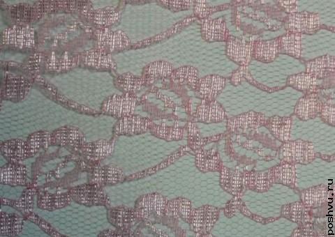 Ткань гипюр розовый Анталия