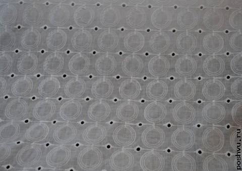 Ткань гипюр с шитьем Круги на воде
