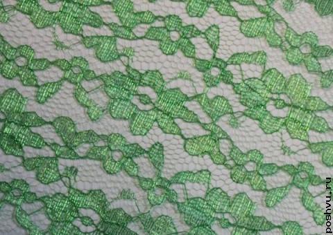 Ткань гипюр зеленый Страна Эльфов