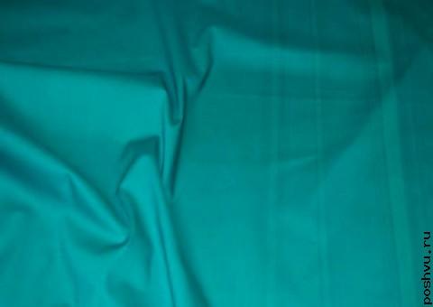 Хлопковая ткань Аквамариновая