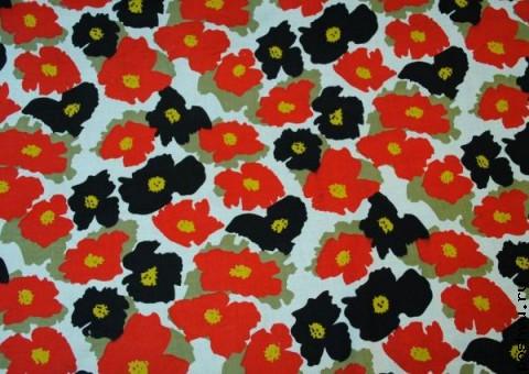 Хлопковая ткань ситец цветочная Он и она