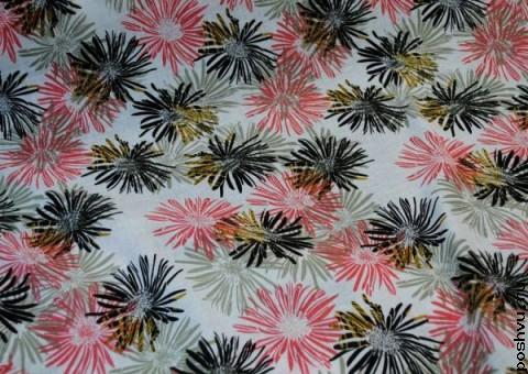 Хлопковая ткань ситец Цветочный фонтан