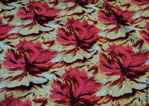 Хлопковая ткань ситец Цветы Бодлера