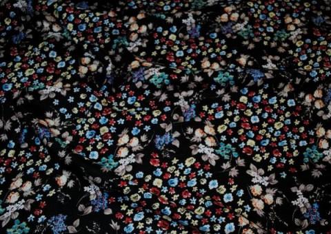 Хлопковая ткань ситец Флора ноче