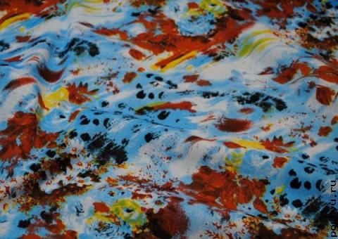 Хлопковая ткань ситец Мир художника