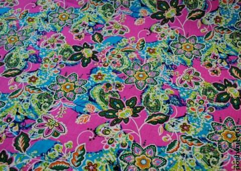 Хлопковая ткань ситец Русский гламур
