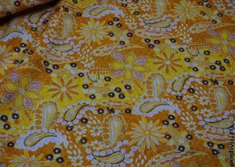 Хлопковая ткань ситец Солнечная поляна