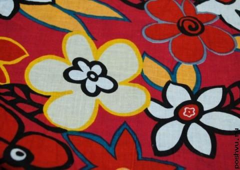 Хлопковая ткань ситец Японская юката
