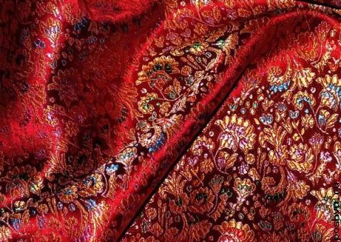 Ткань китайский шелк красный Китайский Новый год