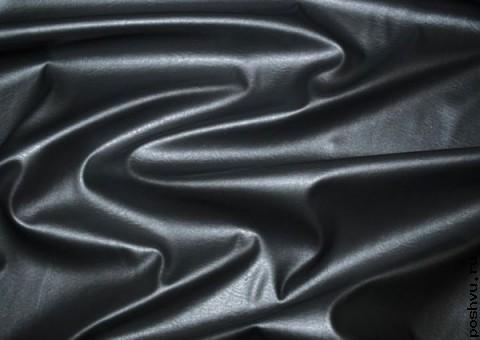 Ткань экокожа Иссера черная