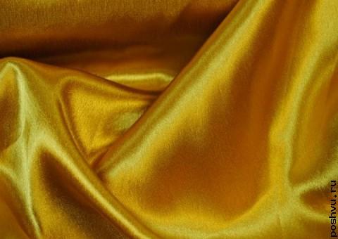 Ткань креп-сатин Яркая сера