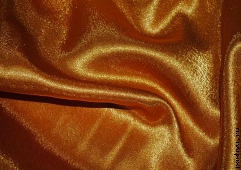 Ткань креп-сатин Золотой ключик