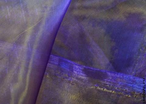 Ткань органза Сапфировая