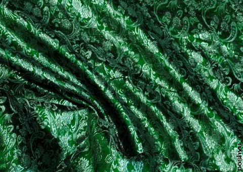 Ткань парча росписная Цветочные поля