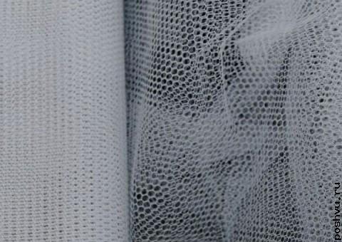 Ткань сетка Белый лебедь