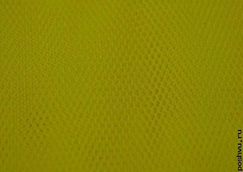 Ткань сетка Блестящая желто-зеленая