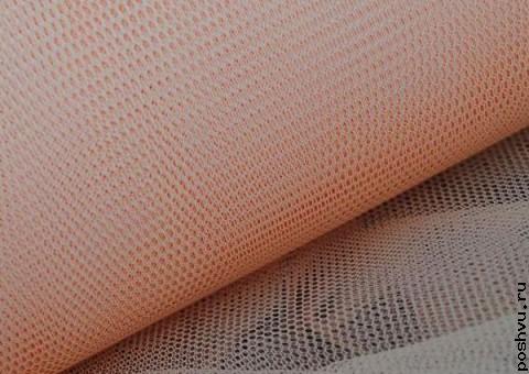 Ткань сетка Персиковый цвет