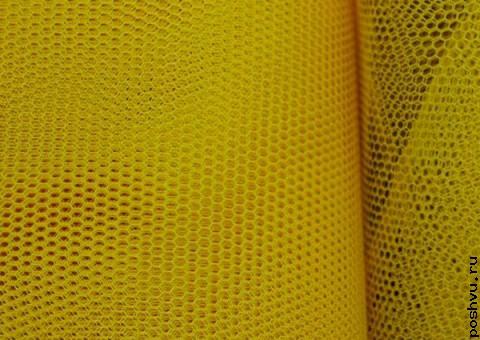 Ткань сетка Желтый ракитник
