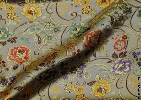 Шелковая ткань Цветочная феерия