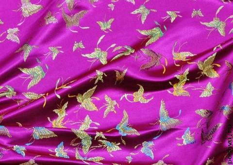 Шелковая ткань День бабочек