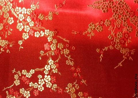 Шелковая ткань кимоно невесты