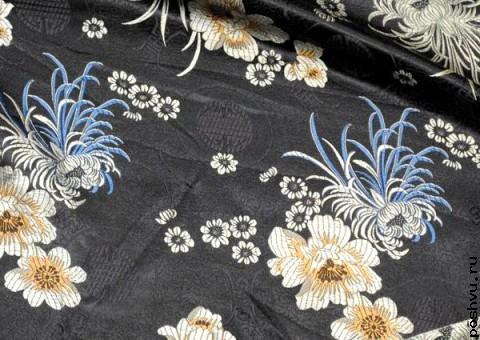 Шелковая ткань Ночная палитра