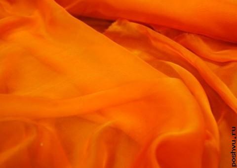 Ткань шелковый шифон Кожура-апельсина
