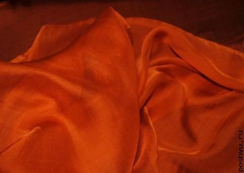 Ткань шелковый шифон Лисий цвет