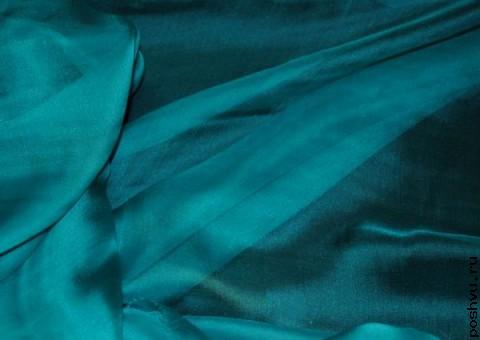 Ткань шелковый шифон Озерная гладь
