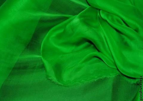 Ткань шелковый шифон Сок айвы