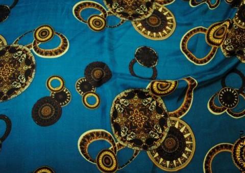 Ткань шелковый шифон Сокровища морского дна