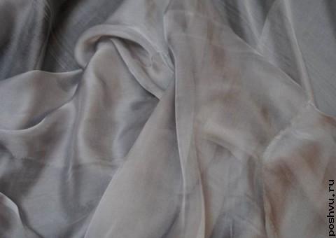 Ткань шелковый шифон Тучка