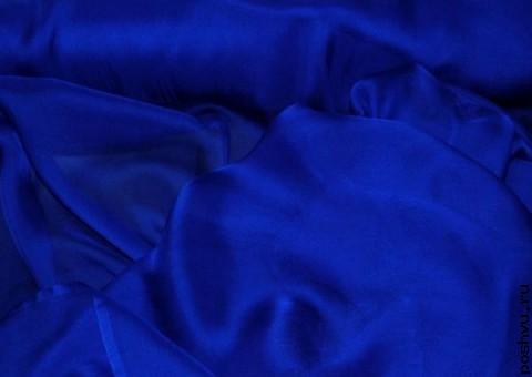 Ткань шелковый шифон Ультра синий
