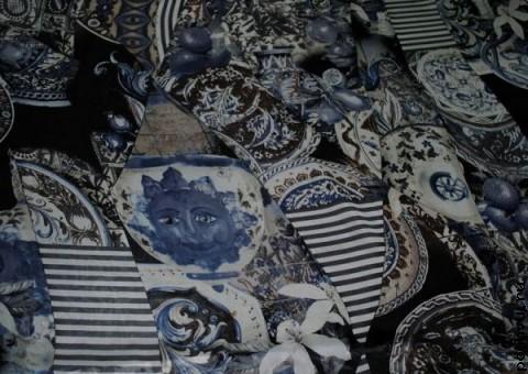 Ткань шелковый шифон Византия