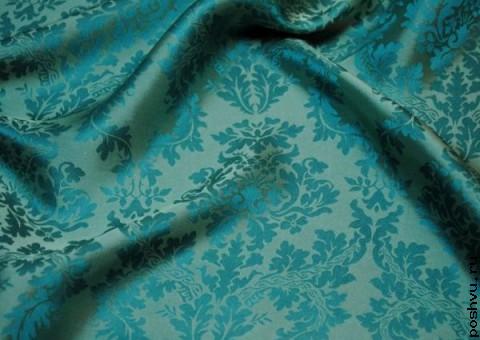 Ткань шелковый жаккард  цветение Вербы