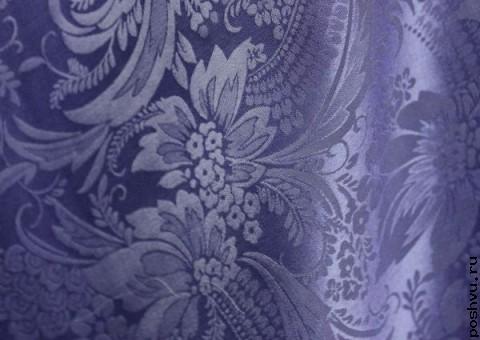 Ткань шелковый жаккард Трахелиум