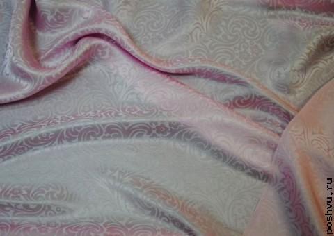 Ткань шелковый жаккард узорный ирисовый