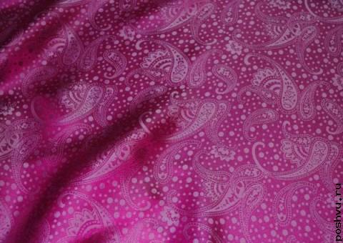 Ткань шелковый жаккард Закатные узоры