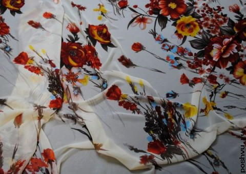 Ткань шифон Букет невесте